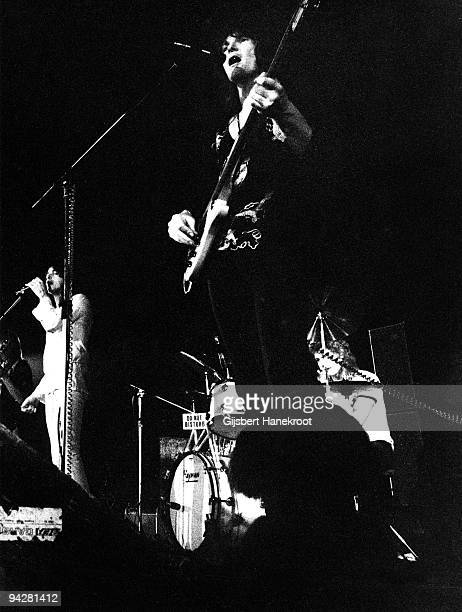 Jon Anderson Chris Squire and Bill Bruford of Yes perform on stage at De Doelen on January 23rd 1972 in Rotterdam Netherlands