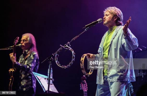 Jon Anderson lead singer of British progressive rock band Yes performs at Ahoy Rotterdam Netherlands 24 July 2003