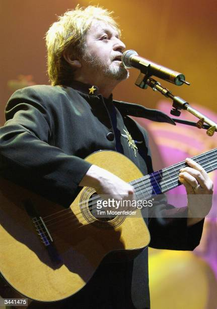 Jon Anderson of Yes performing in support of the bands 35th Anniversay World Tour at the HP Pavilion on April 17 2004 in San Jose California