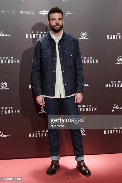 Jon Arias attends the 'El Fotografo de Mauthausen' premiere photocall at Callao Cinema in Madrid on October 25 2018