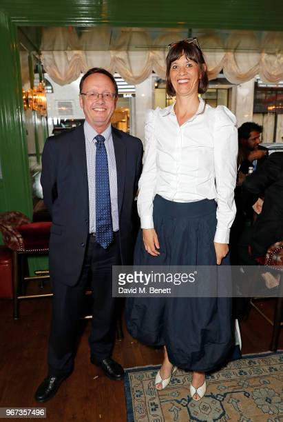 Jon Baddeley and Catherine Davies attend a charity auction held at The Wigmore in partnership with the Royal British Legion to celebrate the release...