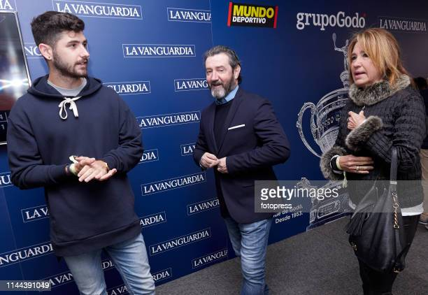 Jon Bakero Jose Mari Bakero and Flor Gonzalez attends the Barcelona Open Banc Sabadell 2019 at Real Club de Tennis de Barcelona on April 22 2019 in...