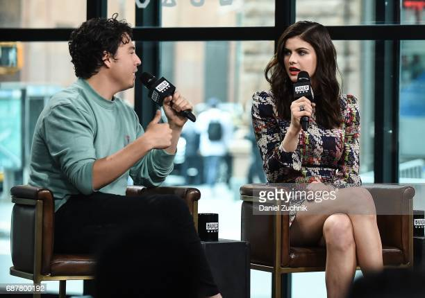 Jon Bass and Alexandra Daddario attend the Build Series to discuss the new film 'Baywatch' at Build Studio on May 24 2017 in New York City