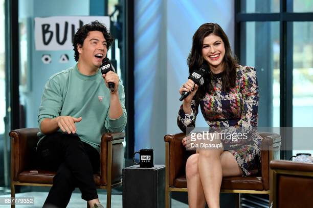 Jon Bass and Alexandra Daddario visit the Build Series to discuss the new movie Baywatch at Build Studio on May 24 2017 in New York City