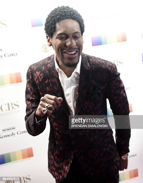 Jon Batiste arrives for the 40th Annual Kennedy Center Honors in Washington DC on December 3 2017 / AFP PHOTO / Brendan Smialowski