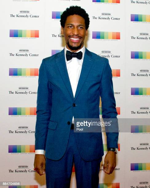 Jon Batiste arrives for the formal Artist's Dinner hosted by United States Secretary of State Rex Tillerson in their honor at the US Department of...
