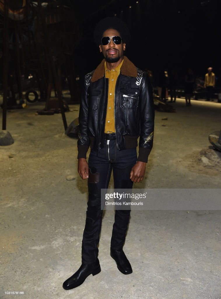 Jon Batiste attends the Coach 1941 front Row during New York Fashion Week at Pier 94 on September 11, 2018 in New York City.