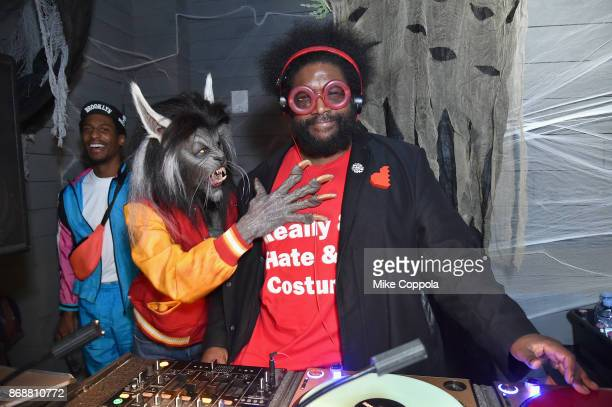 Jon Batiste Heidi Klum and Questlove attend Heidi Klum's 18th Annual Halloween Party presented by Party City and SVEDKA Vodka at Magic Hour Rooftop...