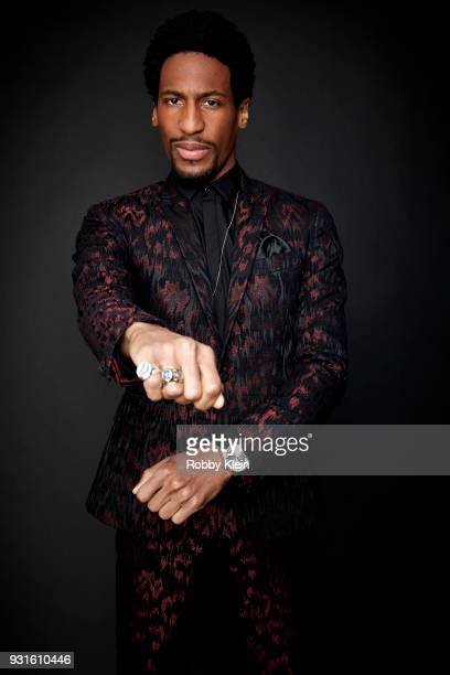Jon Batiste poses for a portrait at the 60th Annual GRAMMY Awards I'm Still Standing A GRAMMY Salute To Elton John at The Theater at Madison Square...