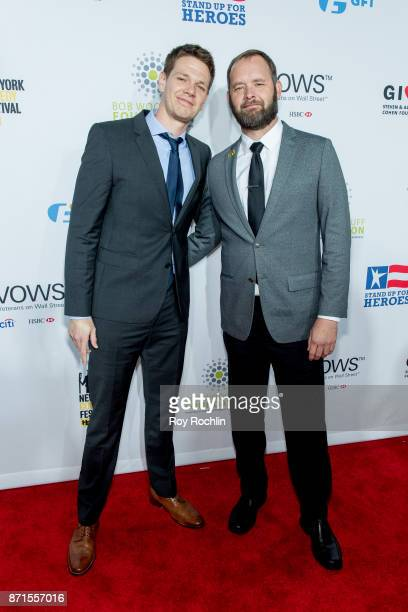 Jon Beavers and Eric Bourquin attend the 11th Annual Stand Up for Heroes at The Theater at Madison Square Garden on November 7 2017 in New York City