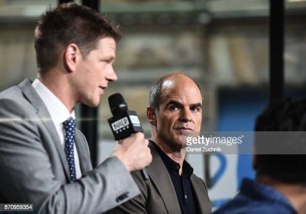 Jon Beavers and Michael Kelly attend the Build Series to discuss the miniseries 'The Long Road Home' at Build Studio on November 6 2017 in New York...