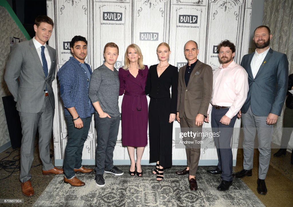 Jon Beavers, E.J. Bonilla, Noel Fisher, Martha Raddatz, Kate Bosworth, Michael Kelly, Aaron Fowler and Eric Bourquin attend Build presents the cast of 'The Long Road Home' at Build Studio on November 6, 2017 in New York City.