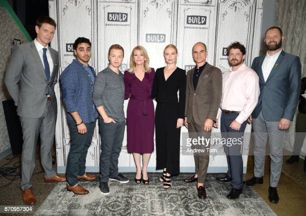 Jon Beavers EJ Bonilla Noel Fisher Martha Raddatz Kate Bosworth Michael Kelly Aaron Fowler and Eric Bourquin attend Build presents the cast of 'The...