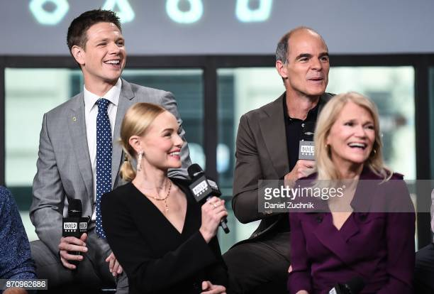 Jon Beavers Michael Kelly Kate Bosworth and Martha Raddatz attend the Build Series to discuss the miniseries 'The Long Road Home' at Build Studio on...