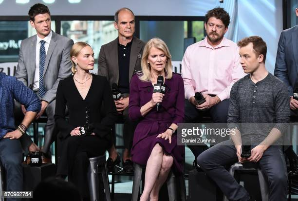 Jon Beavers Michael Kelly Kate Bosworth Martha Raddatz Aaron Fowler and Noel Fisher attend the Build Series to discuss the miniseries 'The Long Road...