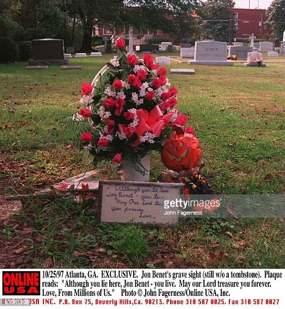 Jon Benet Ramsey's Grave Site In Atlanta Georgia Is Still Without A Tombstone The Plaque Reads 'Although You Lie Here Jon Benet You Live May Our Lord...