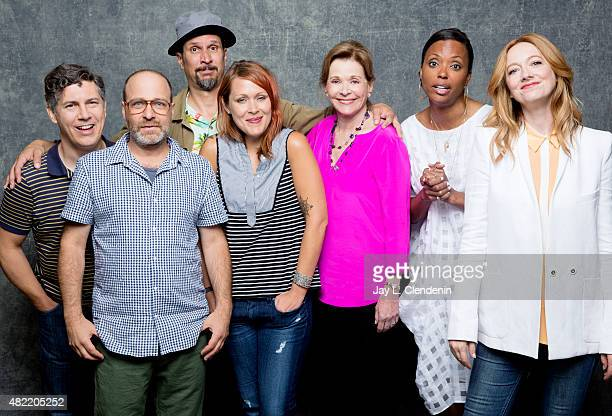 H Jon Benjamin Judy Greer Amber Nash Chris Parnell Aisha Tyler Jessica Walter and Lucky Yates of 'Archer' pose for a portrait at ComicCon...