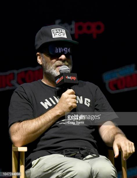 H Jon Benjamin speaks onstage at the Archer 1999 – Sneak Preview and QA during New York Comic Con at Hammerstein Ballroom on October 7 2018 in New...