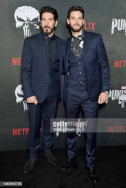 "Jon Bernthal and Ben Barnes arrive at Marvel's ""The Punisher"" Los Angeles Premiere at ArcLight Hollywood on January 14, 2019 in Hollywood, California."