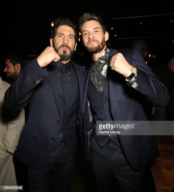Jon Bernthal and Ben Barnes attend 'Marvel's The Punisher' Seasons 2 Premiere at ArcLight Hollywood on January 14 2019 in Hollywood California