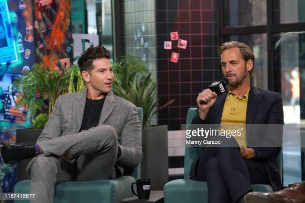"Jon Bernthal and Josh Lucas visit Build Series to discuss the film ""Ford v Ferrari"" at Build Studio on November 13, 2019 in New York City."