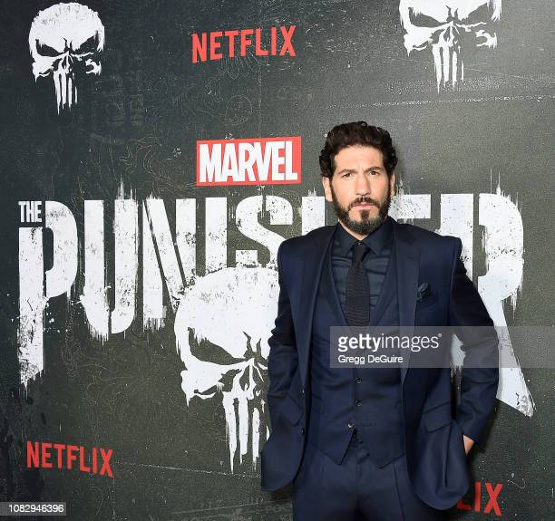 """Jon Bernthal arrives at Marvel's """"The Punisher"""" Los Angeles Premiere at ArcLight Hollywood on January 14, 2019 in Hollywood, California."""