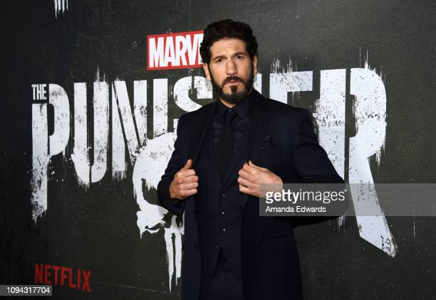 "Jon Bernthal arrives at Marvel's ""The Punisher"" Los Angeles Premiere at ArcLight Hollywood on January 14, 2019 in Hollywood, California."