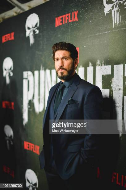 Jon Bernthal attends Marvel's The Punisher Los Angeles Premiere at ArcLight Hollywood on January 14 2019 in Hollywood California