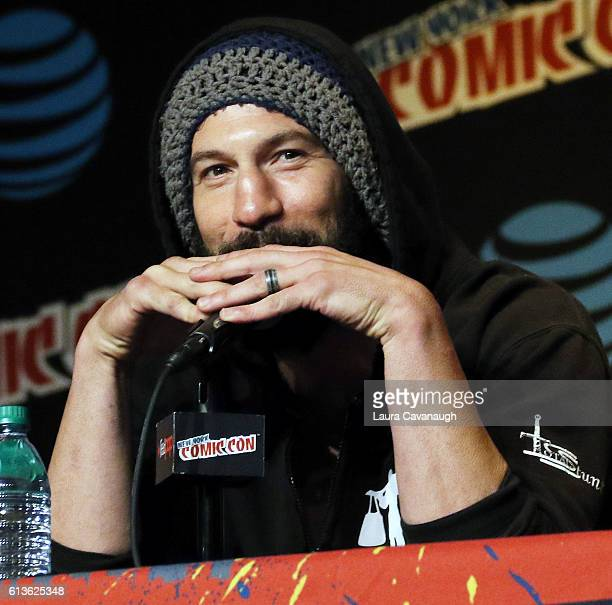 Jon Bernthal attends the Jon Bernthal Spotlight Panel at 2016 New York Comic Con Day 4 on October 9 2016 in New York City