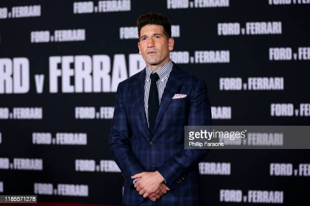 "Jon Bernthal attends the premiere of FOX's ""Ford V Ferrari"" at TCL Chinese Theatre on November 04, 2019 in Hollywood, California."