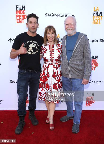 Jon Bernthal Gale Anne Hurd and Scott Wilson attend the screening of 'Mankiller' during the 2017 Los Angeles Film Festival at Arclight Cinemas Culver...