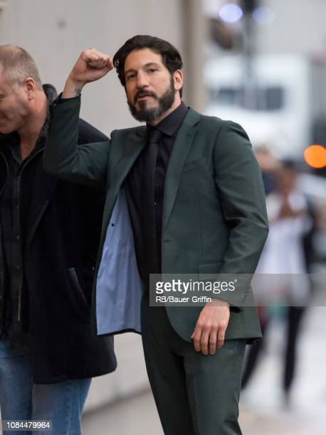 Jon Bernthal is seen at 'Jimmy Kimmel Live' on January 17 2019 in Los Angeles California