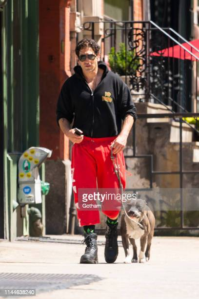 Jon Bernthal is seen in NoHo on April 23, 2019 in New York City.