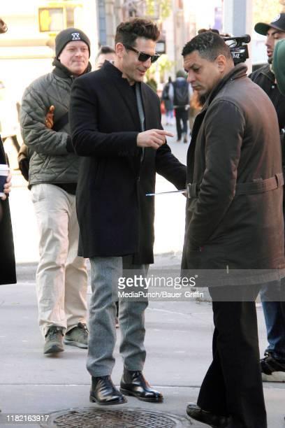 Jon Bernthal is seen outside the Build Studio on November 13 2019 in New York City