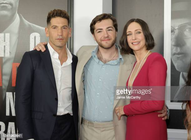 "Jon Bernthal, Michael Gandolfini and Vera Farmiga attend the ""The Many Saints Of Newark"" Tribeca Fall Preview at Beacon Theatre on September 22, 2021..."
