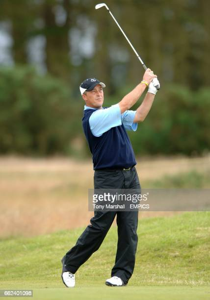 Jon Bevan in action during The Open Championship at the Carnoustie Golf Links in East Scotland EDITORIAL USE ONLY NO MOBILE PHONE USE