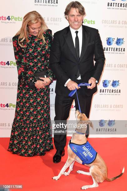 Jon Bishop and his wife Melanie attend the Battersea Dogs Cats Home Collars Coats Gala at Battersea Evolution on November 1 2018 in London England