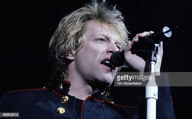 Jon Bon Jovi and Bon Jovi perform in support of the bands Have a Nice Day release at the HP Pavilion on February 27 2006 in San Jose California