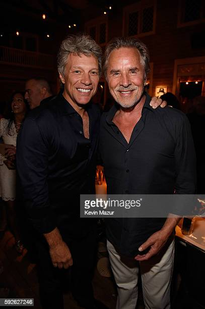 Jon Bon Jovi and Don Johnson attend Apollo in the Hamptons 2016 at The Creeks on August 20 2016 in East Hampton New York