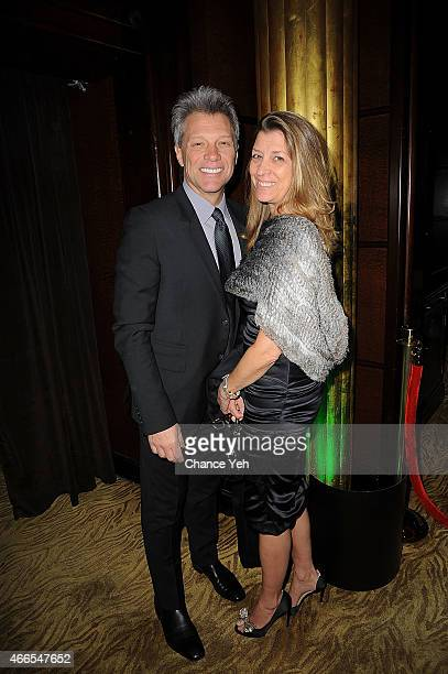Jon Bon Jovi and Dorothea Bon Jovi attend 5th Annual Irish Eyes Gala at JW Marriott Essex House on March 16 2015 in New York City