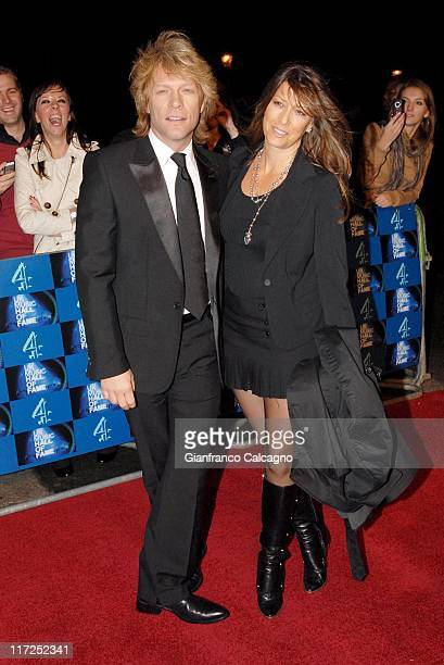 Jon Bon Jovi and Dorothea Bon Jovi during UK Music Hall Of Fame 2006 Arrivals at Alexandra Palace in London Great Britain