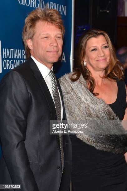 Jon Bon Jovi and Dorothea Hurley attend the 2nd Annual Sean Penn and Friends Help Haiti Home Gala benefiting J/P HRO presented by Giorgio Armani at...