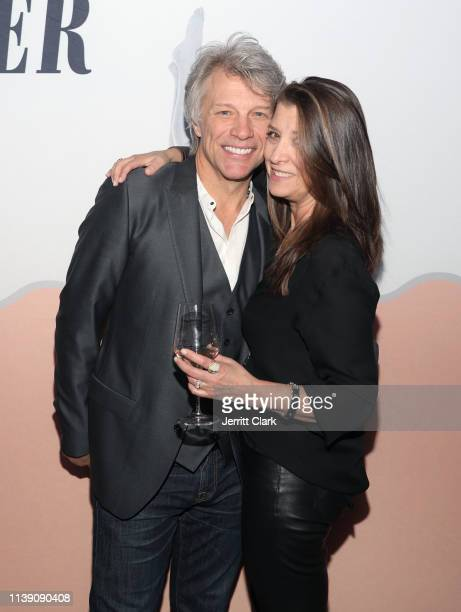 Jon Bon Jovi and Dorothea Hurley attend the Hampton Water Rosé Celebrates LA Launch at Harriet's Rooftop on March 28, 2019 in West Hollywood,...