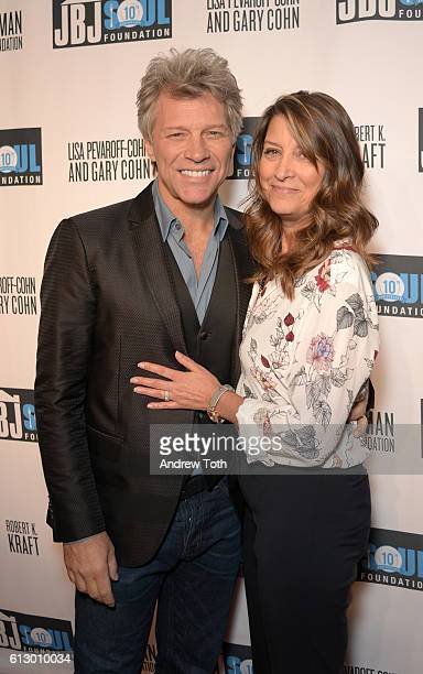 Jon Bon Jovi and Dorothea Hurley attend the Jon Bon Jovi Soul Foundation 10 Year Anniversary at the Garage on October 6 2016 in New York City