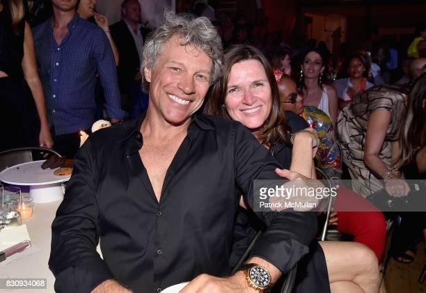 Jon Bon Jovi and Fiona Waterstreet attend Apollo in the Hamptons at The Creeks on August 12 2017 in East Hampton New York