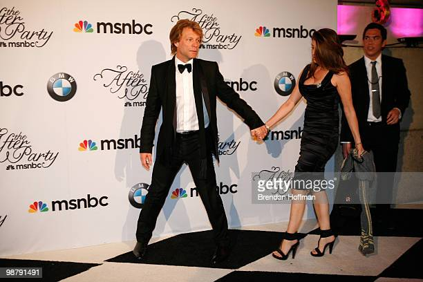 Jon Bon Jovi and his wife Dorothea Hurley arrive at the MSNBC Afterparty following the White House Correspondents' Association dinner on May 1 2010...