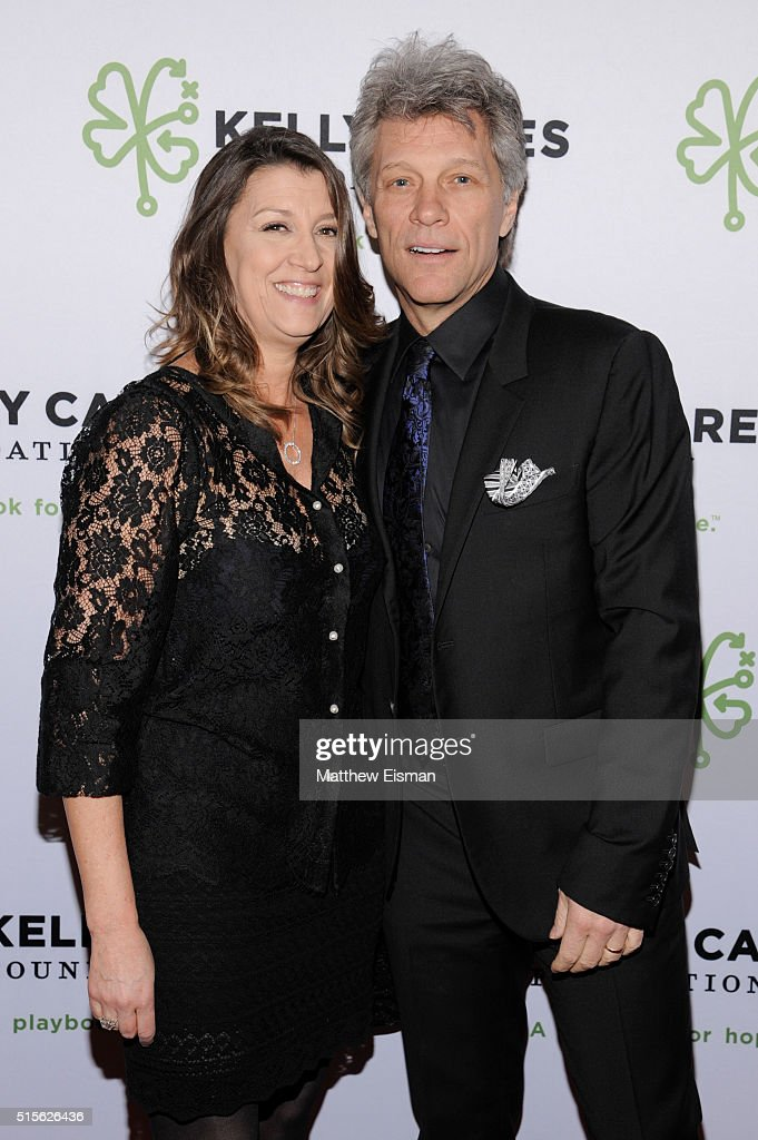 Jon Bon Jovi (R) and his wife Dorothea Hurley attend the Kelly Cares Foundation 2016 Irish Eyes Gala at The Pierre Hotel on March 14, 2016 in New York City.