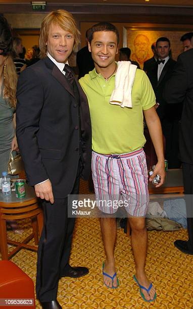 Jon Bon Jovi and Jai Rodriguez during Entertainment Industry Foundation's Colon Cancer Benefit on the QM2 Green Room at Queen Mary 2 in New York City...