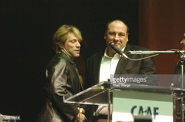 Jon Bon Jovi and James Gandolfini during Annual Dream Halloween Fundraiser for Children Affected by AIDS Foundation at Hammerstein Ballroom in New...