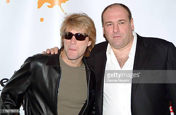 Jon Bon Jovi and James Gandolfini during Dream Halloween Fundraiser to Benefit the Children Affected by AIDS Foundation at Hammerstein Ballroom in...